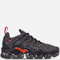 나이키 맨 Mens Nike Air VaporMax Plus Running Shoes,Cool Grey/Team Orange/University Gold
