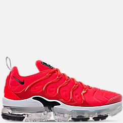 나이키 맨 Mens Nike Air VaporMax Plus Running Shoes,Bright Crimson/Black/White
