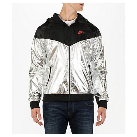 63bea2b5488d mens nike sportswear gold foil windrunner jacket in gold black