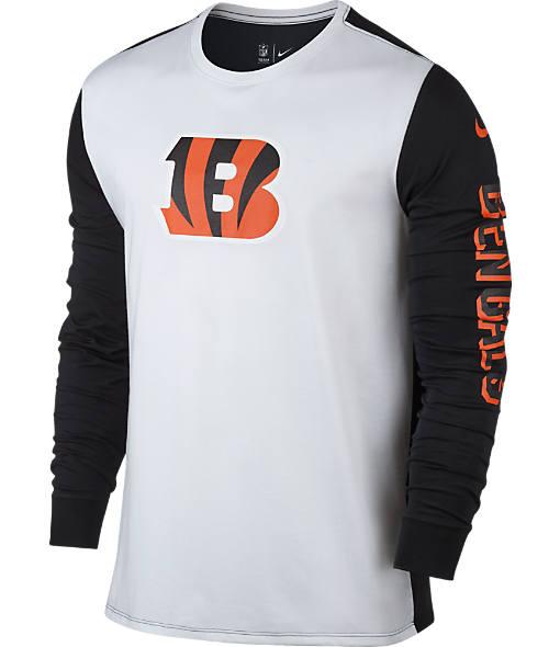 Men's Nike Cincinnati Bengals NFL Championship Drive 2.0 Long-Sleeve T-Shirt