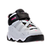 Three Quarter view of Girls' Toddler Jordan 6 Rings Basketball Shoes in Pure Platinum/Hyper Pink/Black/White