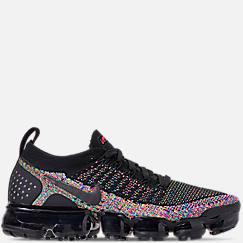 나이키 맨 Mens Nike Air VaporMax Flyknit 2 Running Shoes,Black/Black/Racer Pink/Racer Blue