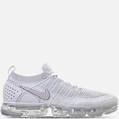 나이키 맨즈 에어 베이퍼맥스 플라잉니트 2 - 화이트/베스트 그레이/풋볼 그레이 Mens Nike Air VaporMax Flyknit 2 Running Shoes,White/Vast Grey/Football Grey
