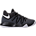 Right view of Boys' Grade School Nike KD Trey 5 V Basketball Shoes in Black/White