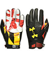 Under Armour Maryland Terrapins College Authority Wide Receiver Football Gloves