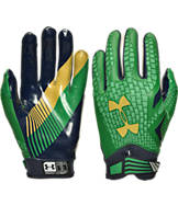 Under Armour Notre Dame Fighting Irish College Authority Wide Receiver Football Gloves