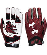 Under Armour South Carolina Gamecocks College Authority Wide Receiver Football Gloves