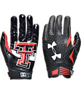 Under Armour Texas Tech Red Raiders College Authority Wide Receiver Football Gloves