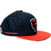 Front view of New Era Chicago Bears NFL Sideline Classic Snapback Hat in TEM