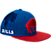 Front view of New Era Buffalo Bills NFL Sideline Classic Snapback Hat in TEM