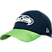 Front view of New Era Seattle Seahawks NFL Sideline Hat in TMC