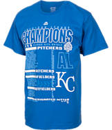 Men's Majestic Kansas City Royals MLB World Series 2015 Roster T-Shirt