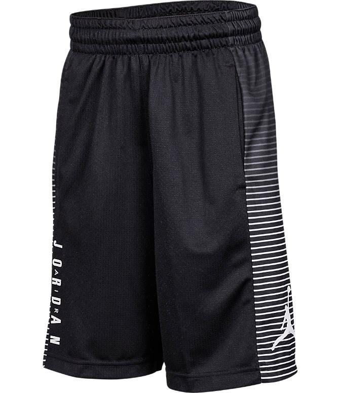 Front view of Boys' Air Jordan Game Basketball Shorts in Black