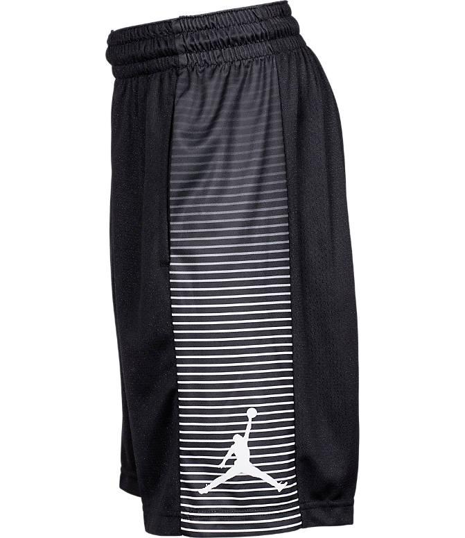 Back view of Boys' Air Jordan Game Basketball Shorts in Black