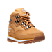 Three Quarter view of Boys' Toddler Timberland Euro Hiker Boots in Wheat