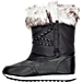 Left view of Girls' Grade School Polo Ralph Lauren Avalon Boots in Black