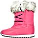 Left view of Girls' Preschool Polo Ralph Lauren Avalon Boots in Boysenberry