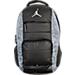Back view of Jordan All World Backpack in Black/Elephant