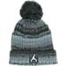Front view of Kids' Jordan Ombre Beanie Hat in Black/Grey