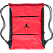 Front view of Air Jordan Alias Athletic Gymsack in Gym Red/Black