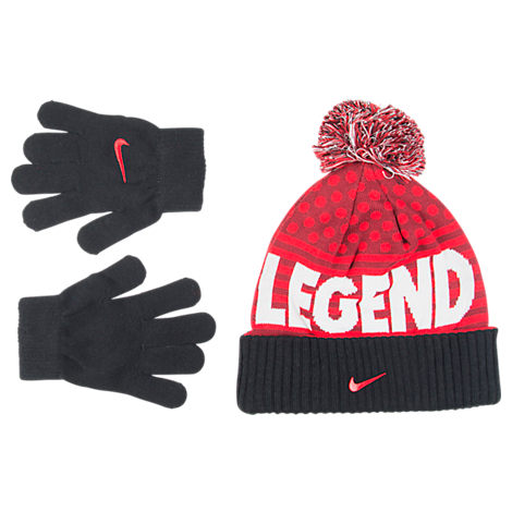 Boys' Nike Attitude Beanie and Glove Set