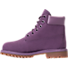 Left view of Girls' Grade School Timberland 6 Inch Classic Boots in Montana Grape