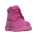 Three Quarter view of Girls' Toddler Timberland 6 Inch Classic Premium Boots in Pink