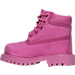 Left view of Girls' Toddler Timberland 6 Inch Classic Premium Boots in Pink