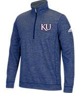 Men's adidas Kansas Jayhawks College Tech Fleece 1/4 Zip Shirt