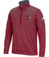 Men's adidas Louisville Cardinals College Tech Fleece 1/4 Zip Shirt