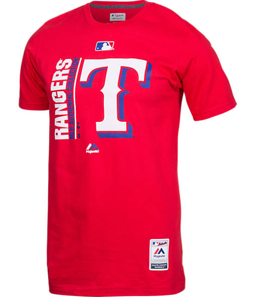 Men's Majestic Texas Rangers MLB Team Icon T-Shirt