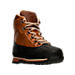Three Quarter view of Men's Timberland Euro Hiker Shell Toe Boots in Burnt Orange