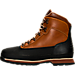 Left view of Men's Timberland Euro Hiker Shell Toe Boots in Burnt Orange