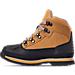 Left view of Boys' Preschool Euro Hiker Shell Toe Boots in Wheat Nubuck