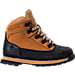 Right view of Boys' Grade School Euro Hiker Shell Toe Boots in Wheat Nubuck