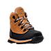Three Quarter view of Boys' Grade School Euro Hiker Shell Toe Boots in Wheat Nubuck