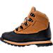 Left view of Boys' Grade School Euro Hiker Shell Toe Boots in Wheat Nubuck