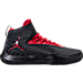 Right view of Men's Air Jordan Fly Unlimited Basketball Shoes in Black/Wolf Grey/Gym Red