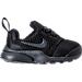 Right view of Boys' Toddler Nike Presto Fly Casual Shoes in Black/Anthracite