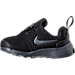Left view of Boys' Toddler Nike Presto Fly Casual Shoes in Black/Anthracite