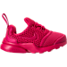 Right view of Girls' Toddler Nike Presto Fly Casual Shoes in Rush Pink/Rush Pink