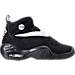 Right view of Boys' Grade School Nike Air Shake NDestrukt Basketball Shoes in Black/White/Team Orange