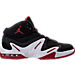 Right view of Men's Air Jordan Alpha 3 Percent Training Shoes in Black/Gym Red/White