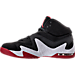 Left view of Men's Air Jordan Alpha 3 Percent Training Shoes in Black/Gym Red/White