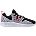 Right view of Men's Air Jordan Lunar Grind Training Shoes in Grey/Black/White