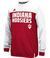Men's adidas Indiana Hoosiers College Shock Energy Perforated Crew Sweatshirt