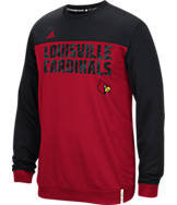 Men's adidas Louisville Cardinals College Shock Energy Perforated Crew Sweatshirt