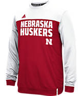 Men's adidas Nebraska Cornhuskers College Shock Energy Perforated Crew Sweatshirt