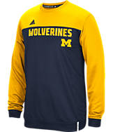 Men's adidas Michigan Wolverines College Shock Energy Perforated Crew Sweatshirt