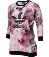 Girls' adidas Originals Allover Print Crew Sweatshirt